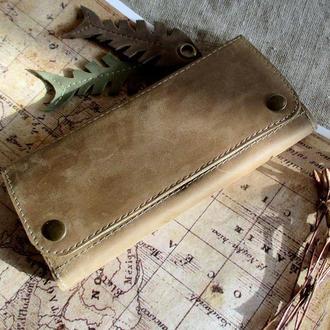 Кожаный длинный кошелек