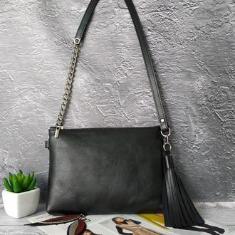 Сумка-клатч из  мягкой натуральной кожи Жіноча сумка -клатч з натуральної шкіри