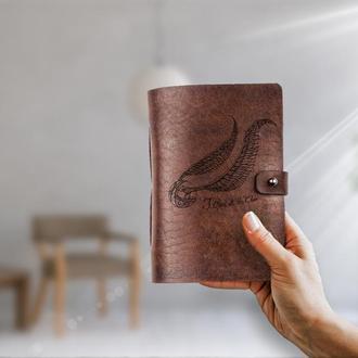 Квиддич,Гарри Поттер, Блокнот из кожи, Блокнот а6, Записная книжка, Скетчбук, Блокнот с гравировкой