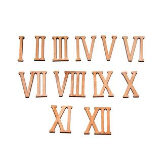 Цифры римские из фанеры 4 мм, высота 40 мм. Заготовка для часов (шрифт № 1)