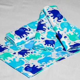 пеленка ситцева слоники