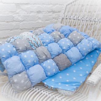 Одеяло бомбон,детское лоскутное одеяло в кроватку,подарки для новорожденных игровой коврик