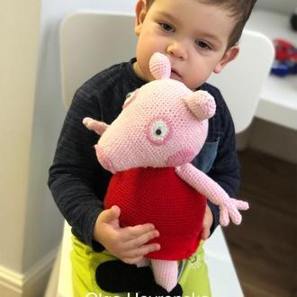 Вязаная свинка Пеппа