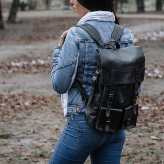 Рюкзак середній чорний Франко | Franko medium black backpack