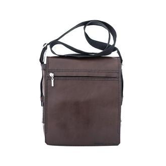 Сумка шкіряна чоловіча коричнева, через плече | Franko crossbody bag brown