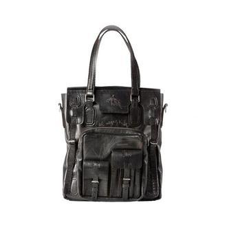 сумка шкіряна, чорна, тоте, Джиммі | JIMMY BLACK BAG
