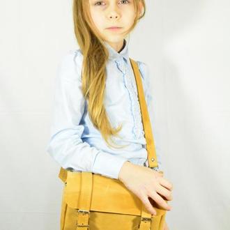 Детская кожаная сумочка.Детская бананка.