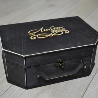 Деревянная подарочная упаковка, бокс, чемодан, подарочная коробка, оригинальная упаковка