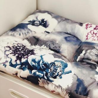 Матрас. Подушка на пол. Матрас на скамью. Подушка в детскую. Матрас с цветами.