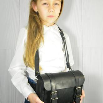 Детская кожаная сумочка. Детский кожаный ремень. Детская бананка.