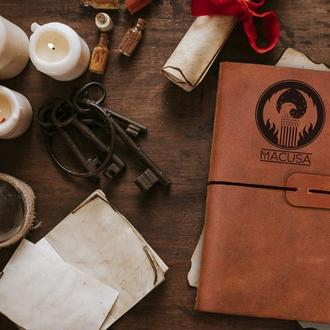 Блокнот из кожи, Фантастические твари, Макуса, Записная книжка, Скетчбук, Подарок мужчине