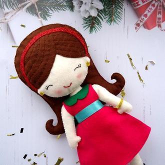 Кукла из фетра / Мягкая куколка из фетра