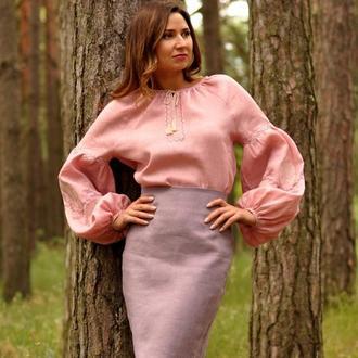 Женские вышиванки из льна - купить изделие ручной работы Украина ... 8c5203bd5bd7c