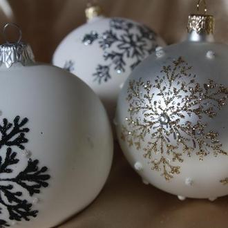Стеклянные шарики ручная роспись
