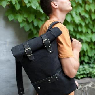 Рюкзак Roll Top Unique из водоотталкивающего брезента