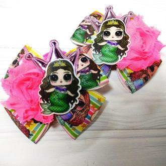 Бантики, резиночки с куколками Лол