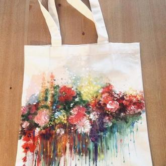 """Эко-сумка """"Живопись """"Цветы"""""""