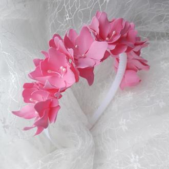 Віночок з рожевими квітами