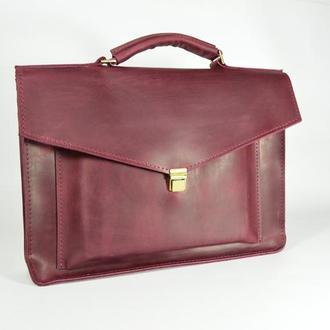 Кожаная папка- портфель