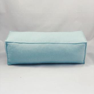 Подушка диванная гипоаллергенная. Подушка-валик. Прямоугольная подушка. Бирюзовая подушка.
