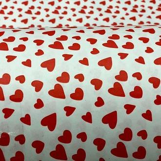 Крафт бумага в рулоне сердечки