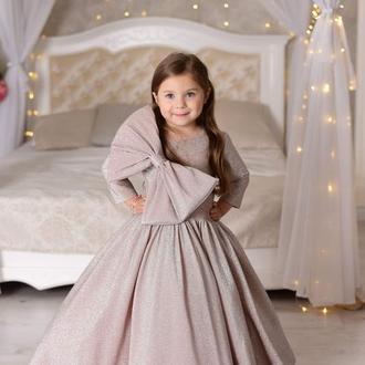 Довга пишна сукня для дівчинки