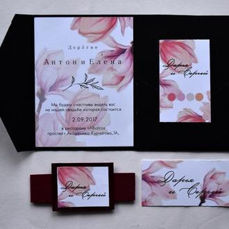 Пригласительное на свадьбу в оригинальном конверте