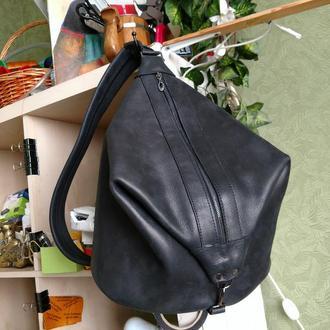Кожаный рюкзак Ждун