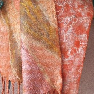 шарф валяный