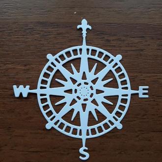 Картонная вырубка для творчества компас