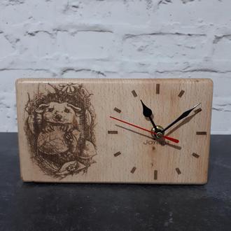 Настольные деревянные часы Ёжик