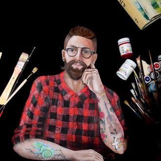 Мужская футболка с портретом А.П. Чехова
