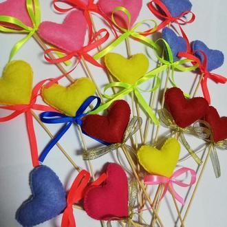 Сердце-валентинка из фетра