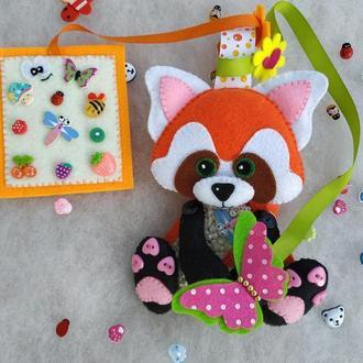 Искалочка Красная панда из фетра