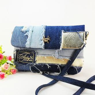 Джинсовый клатч-сумочка