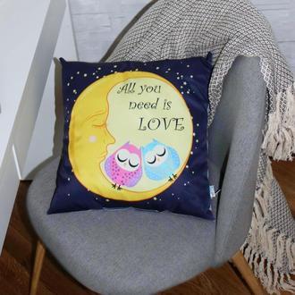 Подушка Совы на луне 40см