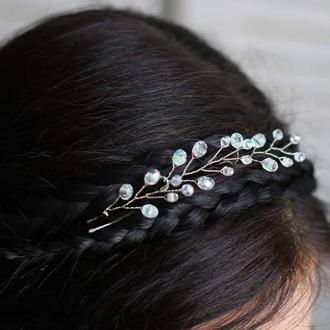Прозрачные или лунные шпильки для волос 3 штуки