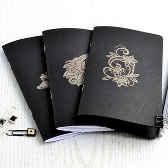 Сменные тетради (Инсерты) в блокнот Midori. Черные листы, белые листы или крафт