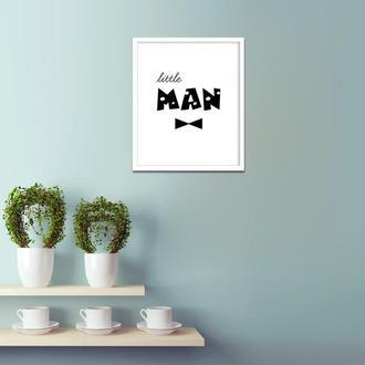 Графический постер для детской Little man