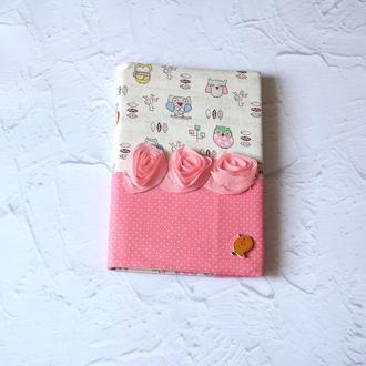 Блокнот в текстильной сменной обложке