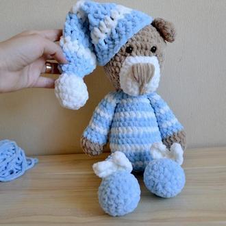 Мишка 37 см  плюшевый амигуруми вязаные игрушки