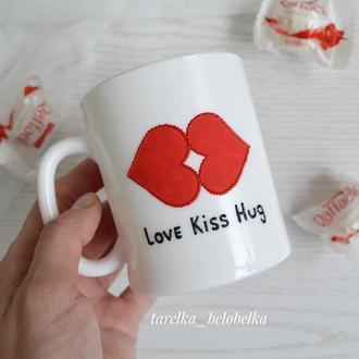 Чашка - подарок на день влюбленных