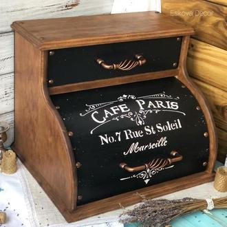"""Хлебница деревянная """"Кафе Парижа"""". В наличии."""