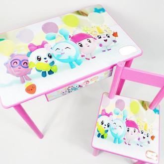 """Детский столик с ящиком и стульчик """"Малышарики"""" от 1 до 6 лет"""