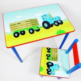 """Детский столик и стульчик """"Синий Трактор""""  от 1 до 6 лет"""