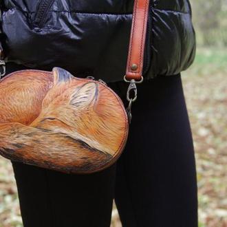 """Женская сумка-клатч """"Лисичка"""""""