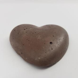 Сердце из бетона, в стиле Loft, - коричневое