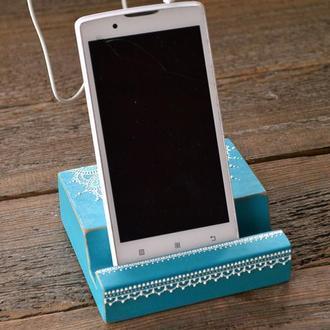 Деревянная подставка для смартфона и планшета DP017