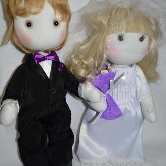 Кукла жених и невеста Подарок на свадьбу подарок на юбилей подарок на годовщину