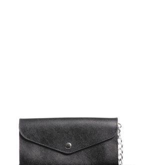 Кожаная сумочка-клатч черного цвета